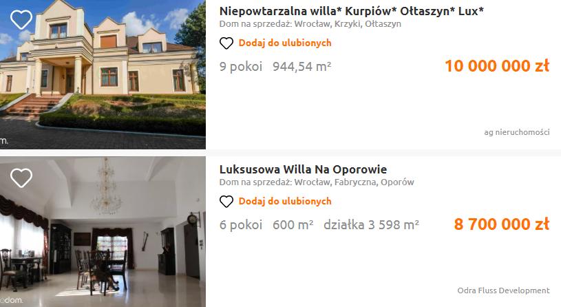 domy we wrocławiu