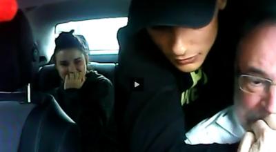 szok! atak z nożem na taksókarza