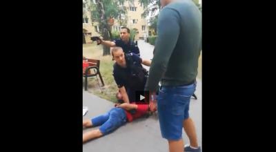 policja pacyfikuje patologie
