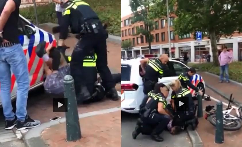 siedmiu holenderskich policjantów