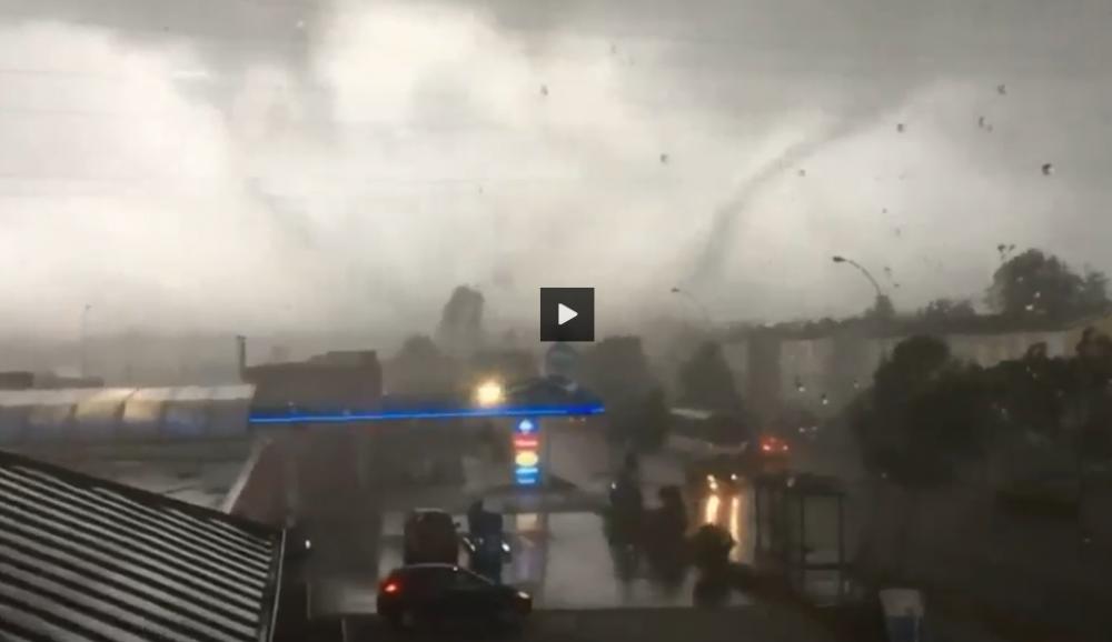 silne tornado nawiedziło Francję
