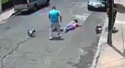 kobieta zaatakowana