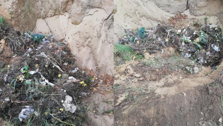 odpady z cmentarza