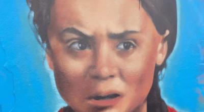 Mural z Gretą Thunberg zniszczony w ciągu godziny