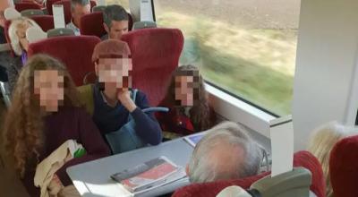 awantura w pociągu
