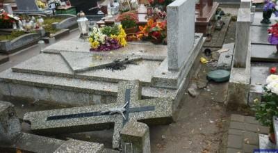 wandale zdemolowali cmentarz