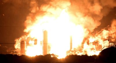 Seria wybuchów w rafinerii