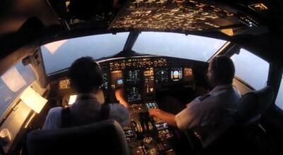 udawał pilota