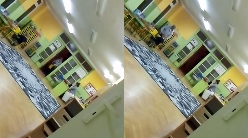 przedszkolanka rzuca dzieckiem