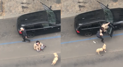 kierowca bolta wyrzucił z auta