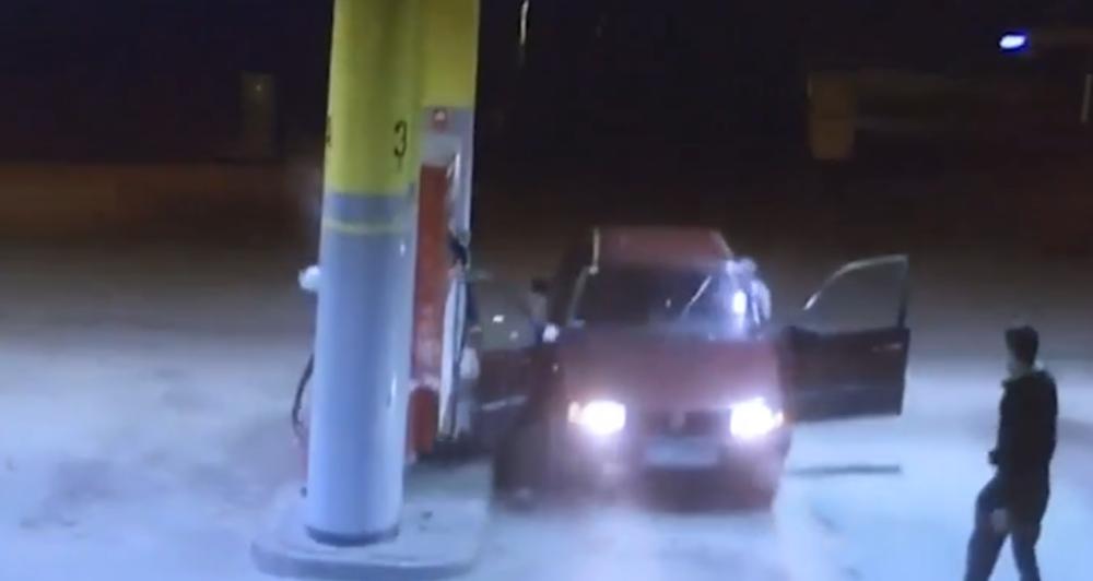 nieudana kradzież paliwa