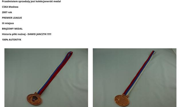 janczyk oddał medal