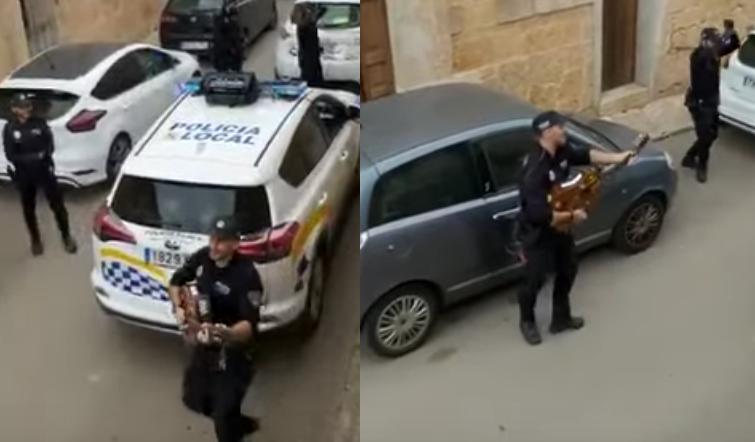 policja daje koncerty