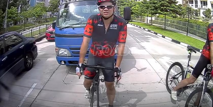 agresywny rowerzyta kontra kierowca
