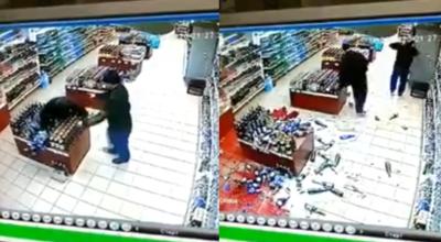 pijani weszli do sklepu