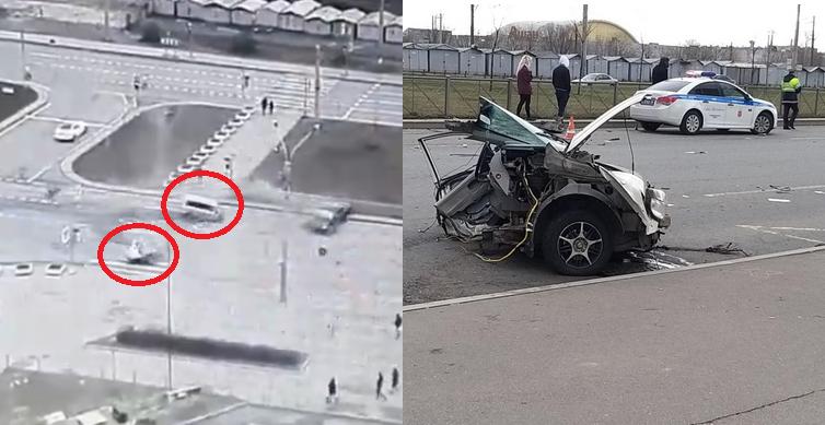 podczas wypadku auto rozpadło się