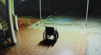 duch na wózku inwalidzkim
