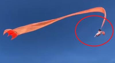 3-latka porwana przez latawiec