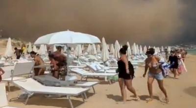 Trąba powietrzna na plaży