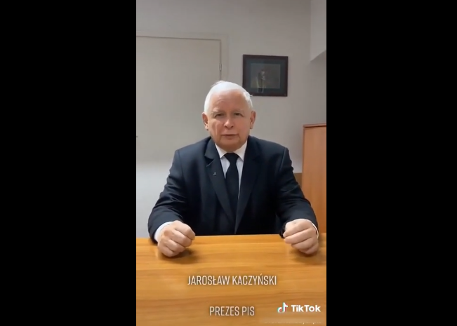 Jarosław Kaczyński na TikToku