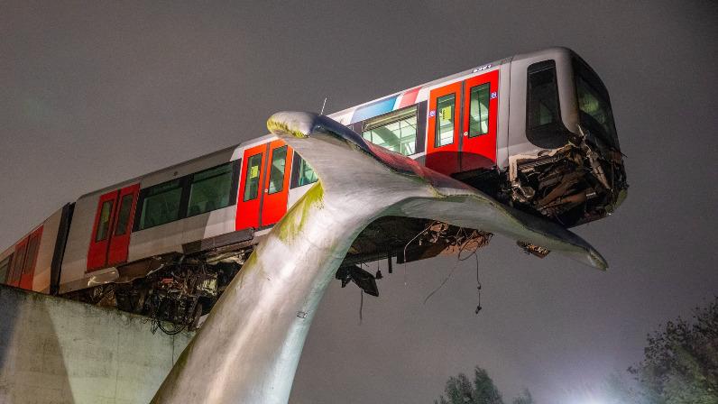 wieloryb uratował pociąg