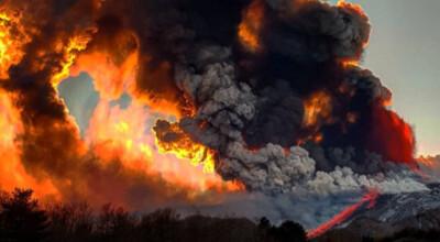 Potężny wybuch Etny