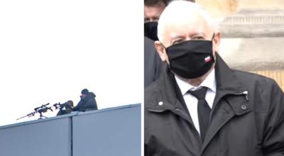 Jarosław Kaczyński ochraniany