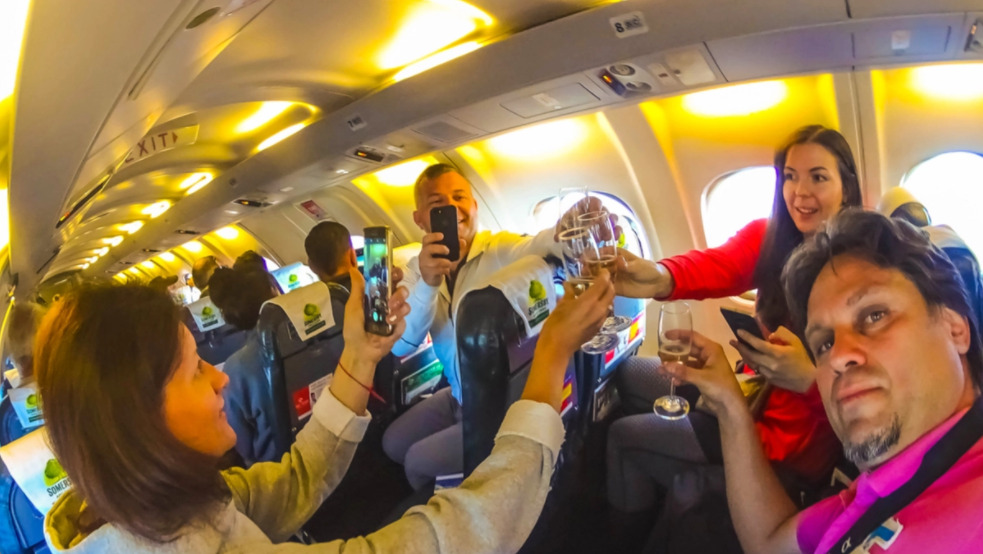 Koniec alkoholu w samolotach