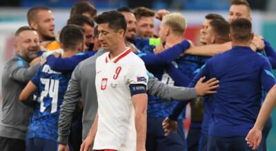 reakcja lewandowskiego na gola słowacji