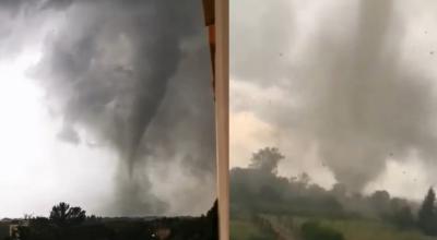 przerażające nagranie tornada