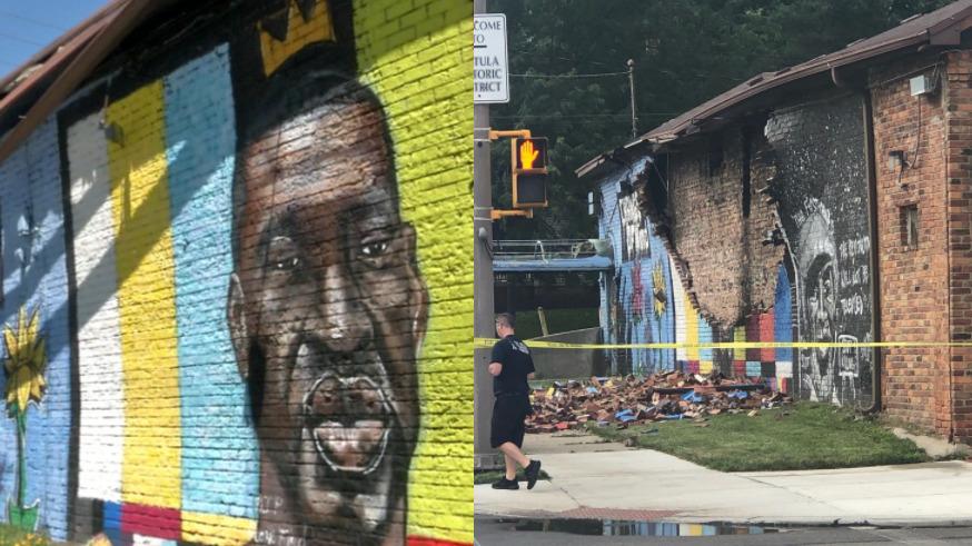 mural z Goerge'em Floydem