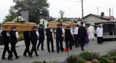 Pogrzeb zamordowanej rodzin