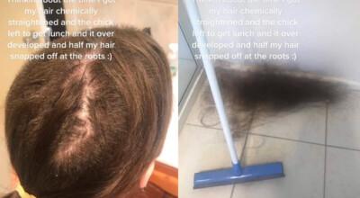 dramatyczna wizyta u fryzjera