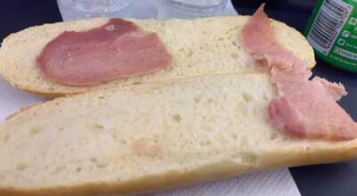 kanapka za ponad 25 zł na pokładzie Ryanair