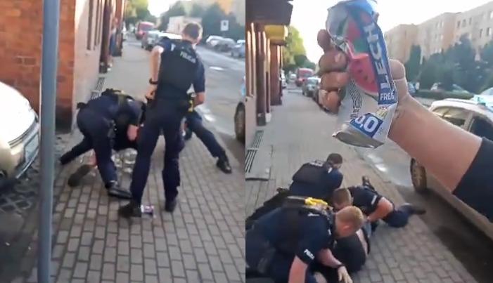 mocna interwencja policji