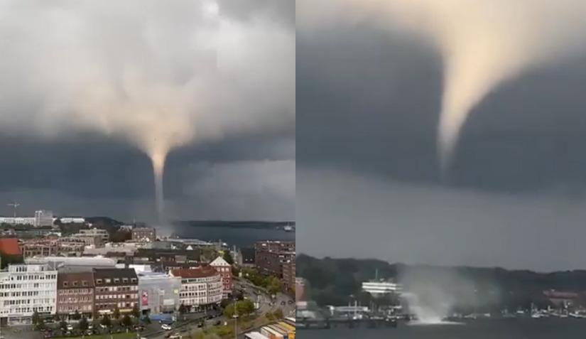 porażające nagrania tornada